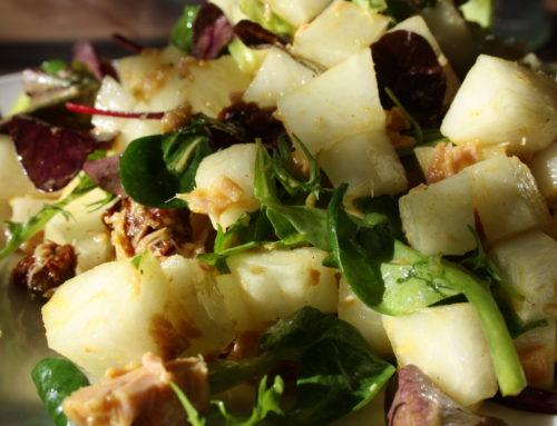 Salade met rettich en tonijn