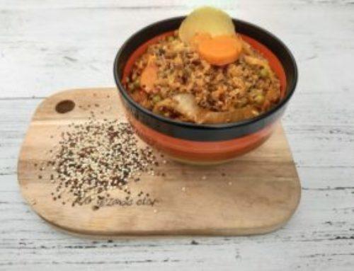 quinoa schotel met peulvruchten